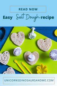 A Pinterest pin for a salt dough recipe.